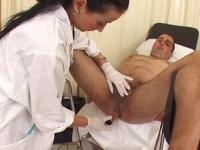 Asshole examination for a naughty patient