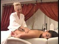 Two hot lesbians have an awesome time in the parlor