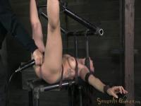 Tied and oiled Simone Sonay will ride huge drill