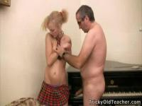 Little Polina abused by her teacher
