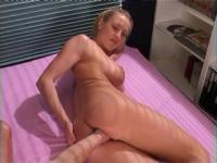 Anal fisting for a cute blondie