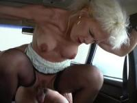 Dirty and blonde whore will get a mouth creampie