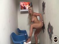 Holly Heart is fucking in a public toilet