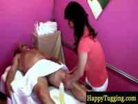 Sexy naked Asian massage in a parlor
