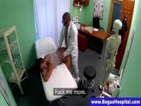 Sweet babe is abused on a clinic