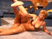 blonde MILF babe will be fucked on the floor