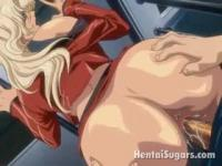 Hentai beauty on a huge drill