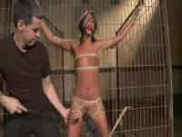 BDSM game in the prison cell