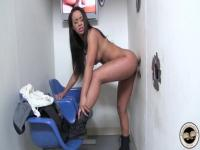 Teanna Trump plays with the cock in the hole