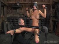 Cherie Deville blindfolded and toyed with