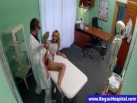 Sweet blonde teenie is victim of doctor's seducing