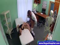 Extra sexy brunette teen babe can sue the doctor