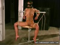 Blindfolded and gagged to get spread