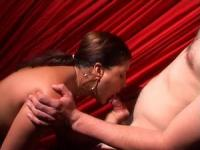 Backstage mouth gang bang from Veronica Santos