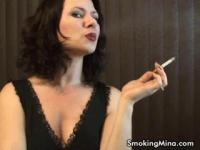 Smoking MILF Mina getting horny
