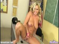 Bree Olson chubby schoolgirl masturbation on desk