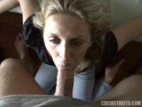 Huge and strong cock for pathetic blonde hooker