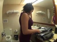 London Keyes caught on a hidden camera
