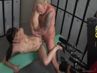 Compilation of ass fucked young asses in a weird prison