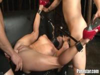 Deep domination in AIden Aspen's mouth and pussy