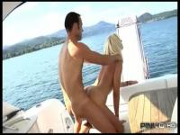 Fucking a blonde MILF on a boat