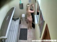 Spy cam in the tanning room