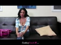 Anissa Kate rides a cock on the casting couch