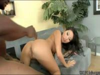 Asa Akira getting her tight pussy destroyed