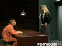 Busty lawyer gets fucked by an inmate