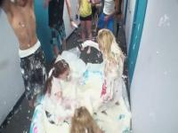 Wild girls gets filthy fucking in their dorm.
