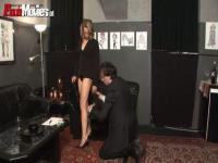 Amateur dominatrix ass licking