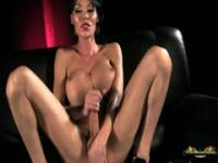 Ladyboy huge cock masturbation