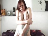 Farrah Mills -  playing with my tits and cock for you