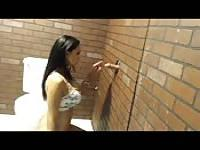 Amy Anderssen in her first Glory Hole
