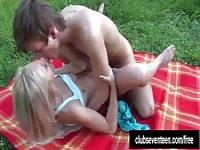 Romantic fuck in the countryside