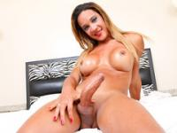 Sexy Shemale Marianna Araujo Plays With Her Cock