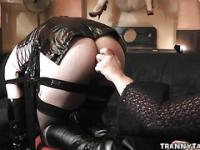 T-Girl Disciplined and Fucked By Couple