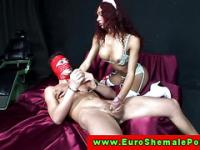 Euro shemale tranny giving ass fuck