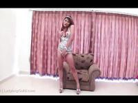 ladyboy Lin gaping silver dress clip1
