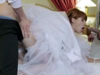 Bride is being drilled by two strangers in an important moment