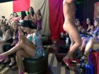 Men perform in a very exciting nude spectacle for the woman