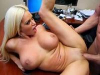 Blonde secretary is a very good motivation for her boss