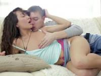 beautiful couple having sensual copulation in this porn vid