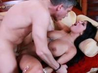 Busty MILF was creamed after banging by her lover