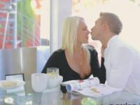 Blonde MILF  passionately  fucking  from the behind