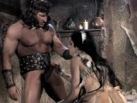 Such muscled barbarian knows only rough pounding