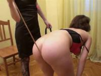 Sadistic dominatrix put best friend on the leash