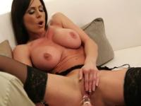 Big-tittied lass in stockings owned by lustful hunk