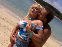 slut gets drilled by a professional fucker on the shore