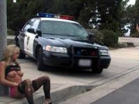 Flawless slut got arrested by police and fucked in the name of the law